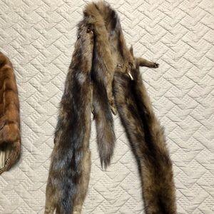 Mink fur stole bodies